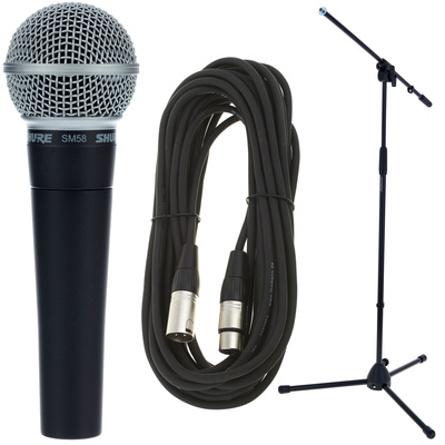 Shure SM58 Mikrofon Bundle für Karaoke Singen
